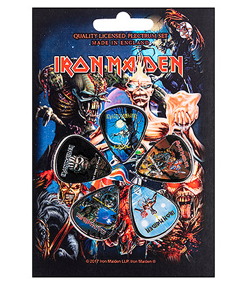 Official Iron Maiden Albums Guitar Plectrum Gift Set (Pack Of 5)
