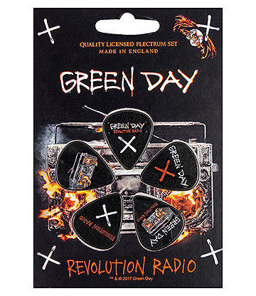 Official Green Day Revolution Radio Guitar Plectrum Gift Set (Pack Of 5)
