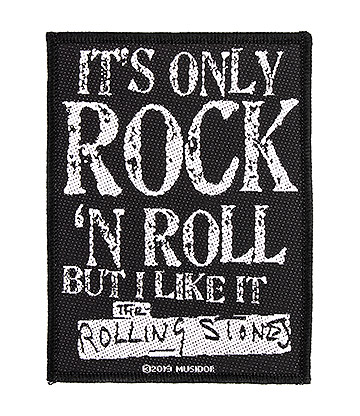 Official Rolling Stones Only Rock N Roll Patch (Black)