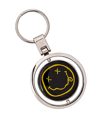 Official Nirvana Smiley Spinner Keychain (Multicoloured)