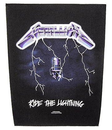 Metallica Parche Oficial Con Logo y Estampado Ride The Lightning - Negro 36 x 29cm