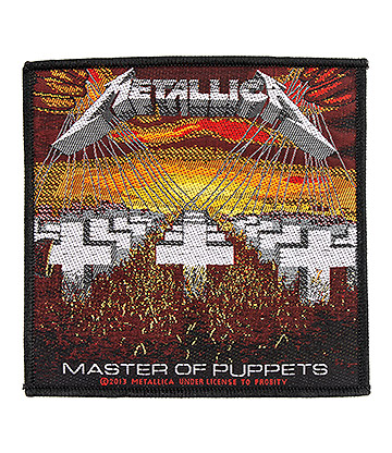 Official Metallica Master Of Puppets Patch (Black)
