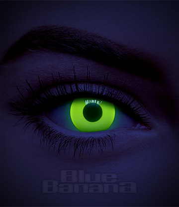 UV I-Glow 1 Day Coloured Contact Lenses (Yellow)