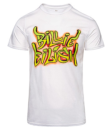Official Billie Eilish Graffiti T Shirt (White)