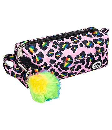Hype Rainbow Leo Pom Pom Pencil Case (Multicoloured)