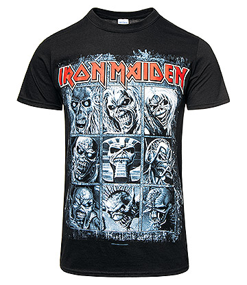Official Iron Maiden 9 Eddies T Shirt (Black)