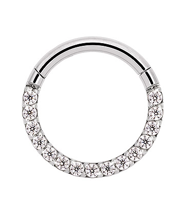 Blue Banana 8mm Hinged Crystal Septum Ring (Crystal)