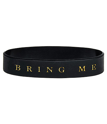Official Bring Me The Horizon Logo Gummy Wristband (Black)