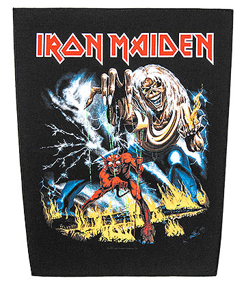 Iron Maiden Patch de Vêtements Officiel Number Of The Beast (Noir)