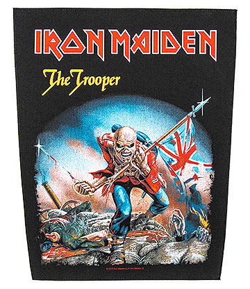 Iron Maiden Patch de Vêtements Officiel The Trooper (Noir)