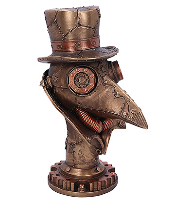 Nemesis Now Beaky Steampunk Plague Doctor Bust Figurine