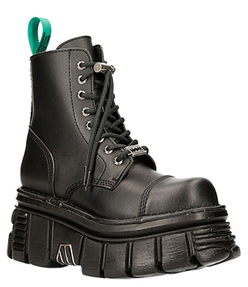 New Rock M-NEWMILI083-VS2 Vegan Military Boots (Black)
