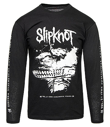 Official Slipknot Sub Verses Long Sleeve T Shirt (Black)