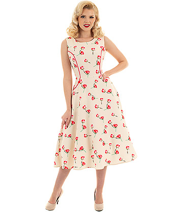 H&R Sorella Summer Swing Dress (Cream)