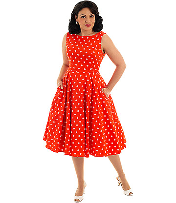 H&R Sandy Polka Dress (Orange)