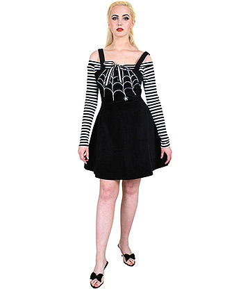 Voodoo Vixen Charlotte Spider Web Dress (Black)