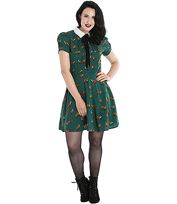 Hell Bunny Vixey Dress (Green)