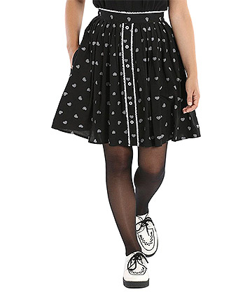 Hell Bunny Ribcage Mini Skirt (Black)