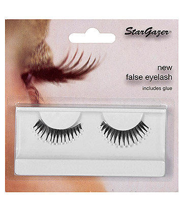 Stargazer No.39 Feathered False Eyelashes (Black/White)