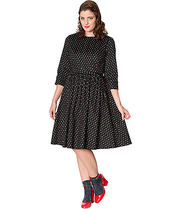 Banned Spot Dress (Black)