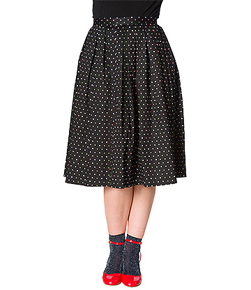 Banned Spot Skirt (Black)