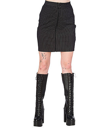 Banned Cold Wave Bodycon Skirt (Black)