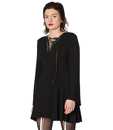 Banned Tied Up Gothic Dress (Black)