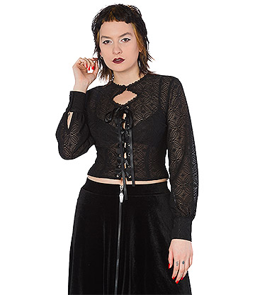 Banned Lily Blouse (Black)