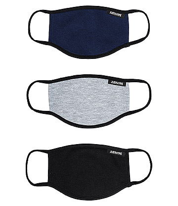 Hype Kids Dark Colours Facemask (Pack Of 3)