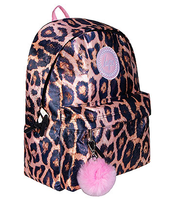 Hype Blush Leopard Pom Pom Backpack (Multicoloured)