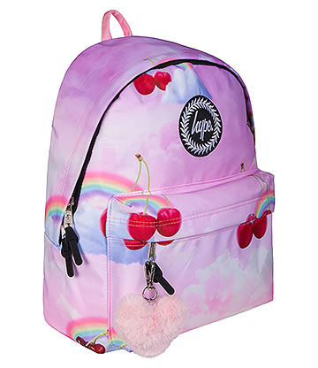Hype Cherry Sky Pom Pom Backpack (Pink)