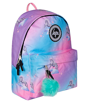 Hype Unicorn Fade Pom Pom Backpack (Multicoloured)