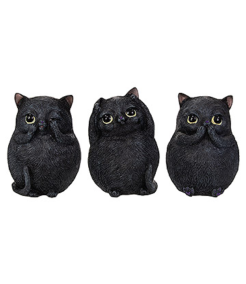Nemesis Now Three Wise Fat Cats Figurine (8.5cm)