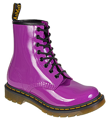Dr Martens 1460 Patent Boots (Bright Purple)