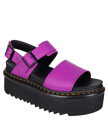 Dr Martens Voss Quad Hydro Leather Sandals (Purple)