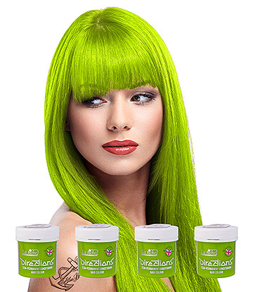 La Riche Directions Colour Hair Dye 4 Pack 88ml (Fluorescent Lime)