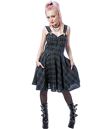Heartless Zosia Check Dress (Grey)