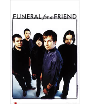 Official Funeral For A Friend Group Photo Print Poster