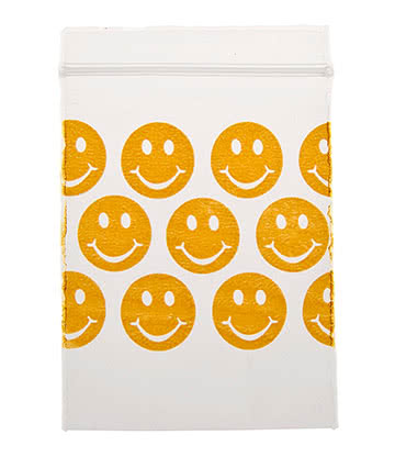 Blue Banana Smiley Baggies 50mm x 70mm (Pack Of 100)