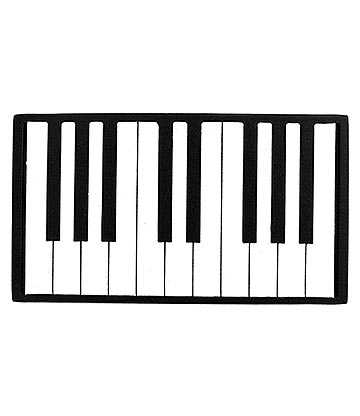 Blue Banana Piano Keys Style Belt Buckle (Black/White)