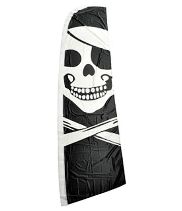 Blue Banana Grand Drapeau Pirate Tête De Mort 325x77cm
