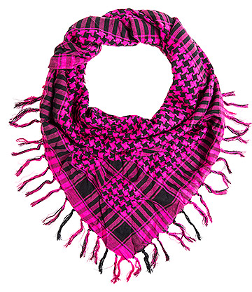 Blue Banana Dogstooth PLO Scarf (Black/Pink)