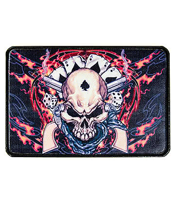 Blue Banana Flame Skull Belt Buckle
