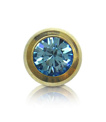 Blue Banana Plasma Gold 5mm Jewelled Ball (Aqua)