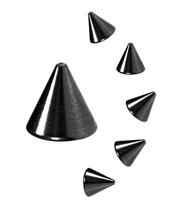 Blue Banana Body Piercing 5mm Cone Add On (Schwarz)