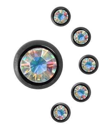 Blue Banana Black Titanium 5mm Jewel Ball (AB)