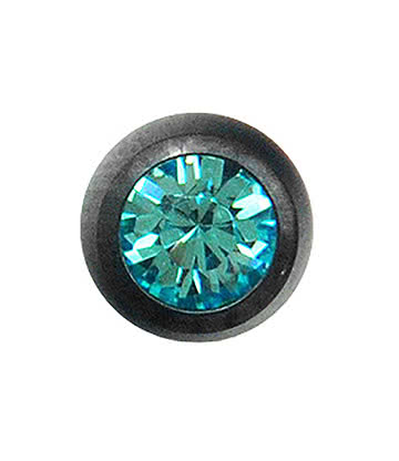 Blue Banana Black Titanium 5mm Jewelled Ball (Zircon)