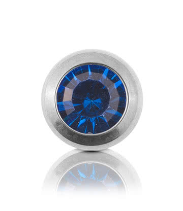 Blue Banana Polished Titanium 5mm Jewelled Ball (Capri)