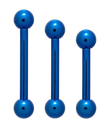 Piercing Barbell Titanio Colorato Blue Banana Body Piercing (Blu) 1.6 x 8mm (Calibro/Spessore)