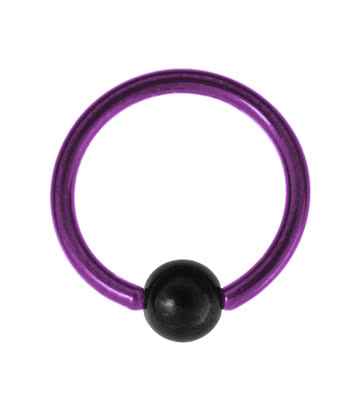 Blue Banana Coloured Titanium 1.2mm BCR (Purple)